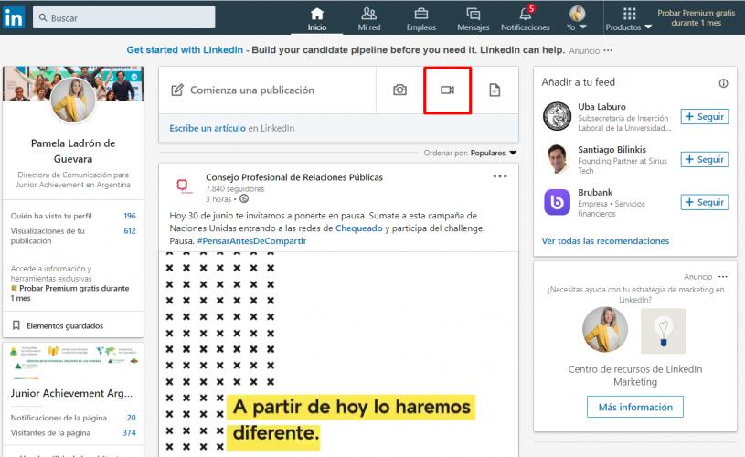 Linkedin horizontal